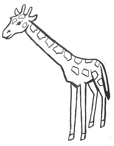 dessins de coloriage girafe  imprimer