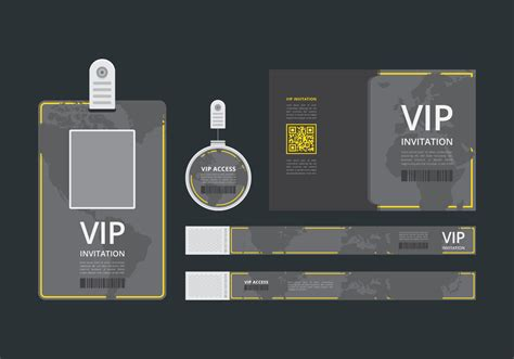 vip pass id card template vip pass  event template