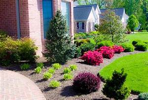 Image of: Outdoor Interesting Front Yard Plant Maintenance Bush Front House Landscaping Decorative Fencing: Decorating The Modern House