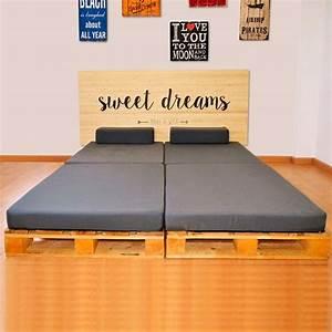 Cama de Palet con Cabecero Sweet Dreams DECOPALE