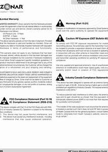 Zonar Systems V3 V3 User Manual Final Version