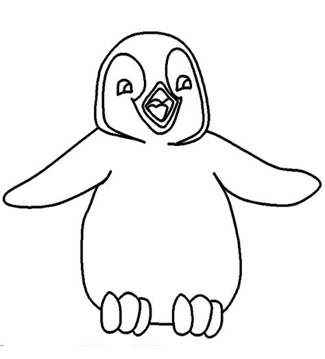 Pingwing Kleurplaat by Dieren Kleurplaten Pinguin