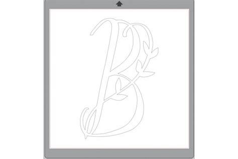 fancy leaves monogram svg  cricut silhouette monogramsvgcom  svg designs