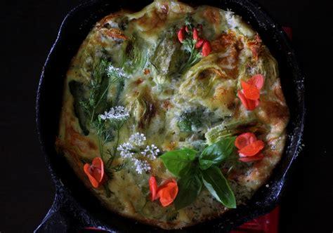 cuisiner fleurs de courgettes quiche aux fleurs de courgettes driftless appetite