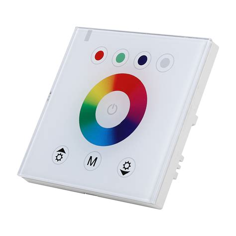 wall mounted touch panel rgb dimmer controller for led