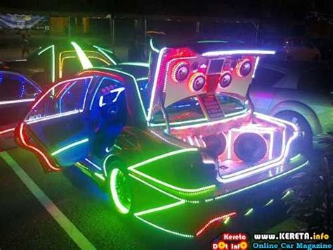 wira modified led car glow show cars