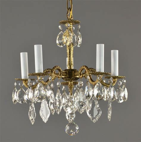 Vintage Chandelier by Brass Chandelier C1950 Vintage Antique