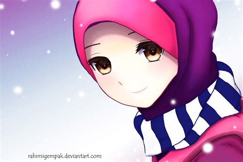 Islamic Anime Wallpaper - muslim anime qaimasarah it s snowing by rahimi af on