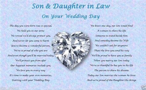 son daughter  law wedding day poem gift wedding