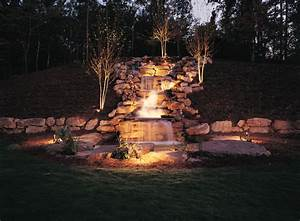 Waterfall lighting creates memphis sanctuaries outdoor
