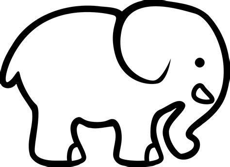 printable elephant coloring pages  kids animal place