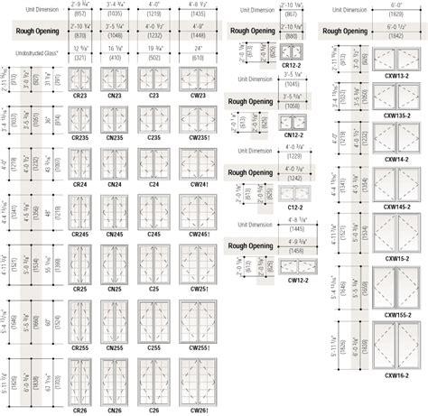 superb interior door size chart  standard casement window sizes chart smalltowndjscom