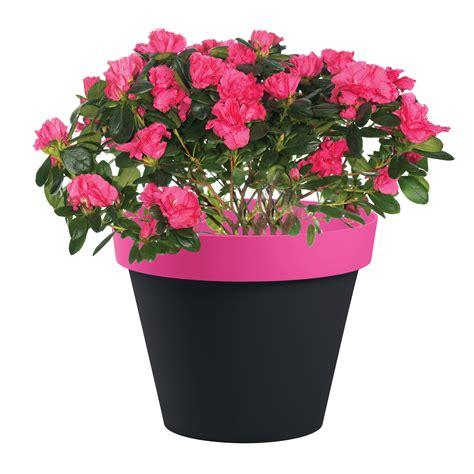 pot de fleur style bicolore 216 40x32cm rond 23l