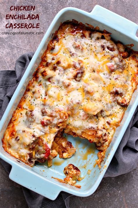 Once fully layered, the casserole is ready to bake! Easy Homemade Enchilada Sauce   Cravings of a Lunatic