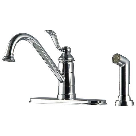 kitchen faucet side spray pfister portland 1 handle 3 high arc kitchen faucet