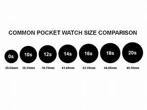 Pocket Watch Size Chart