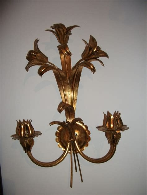 antiques atlas gilt metal wall light sconce