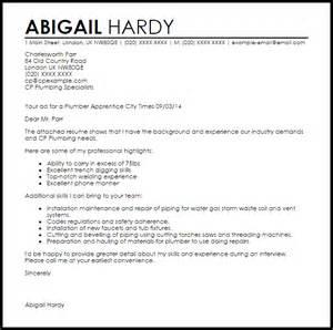 Resume Template Professional Plumber Apprentice Cover Letter Sle Livecareer