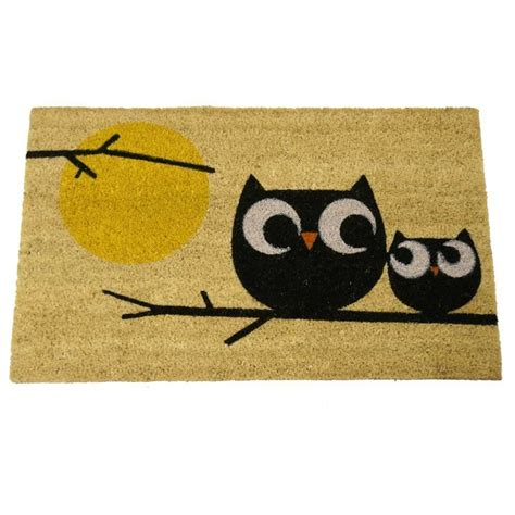 Owl Doormat by Welcome Owls Coir Door Mat 18 Inch By 30 Inch Rug Floor