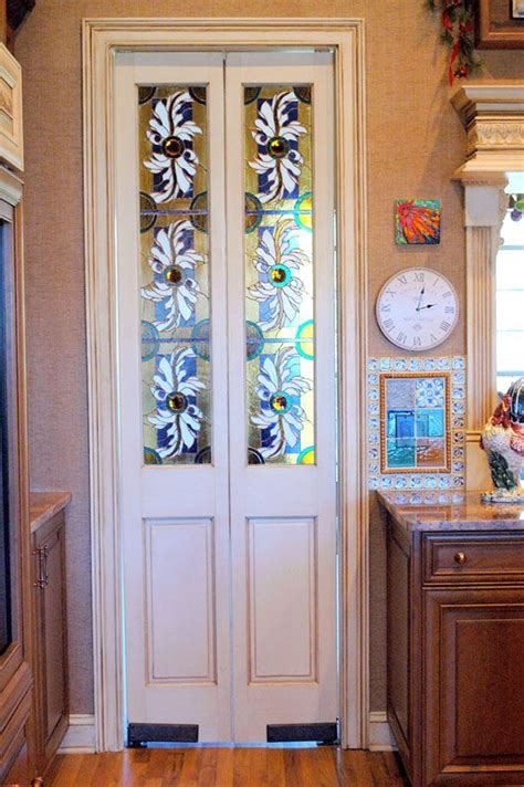 stained glass doors  kitchen  mudlaundry room