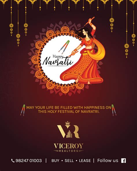happy navratri  card designed  client