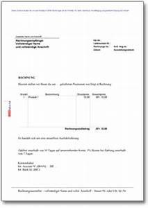 Frist Rechnung : rechnung anschreiben export muster vorlage zum download ~ Themetempest.com Abrechnung