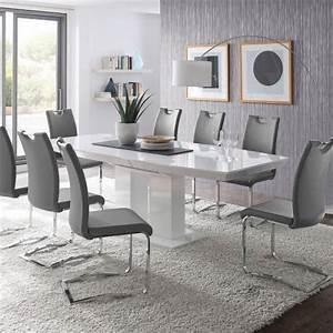 Esszimmer Weiß Grau : esszimmer set grau weiss ~ Markanthonyermac.com Haus und Dekorationen