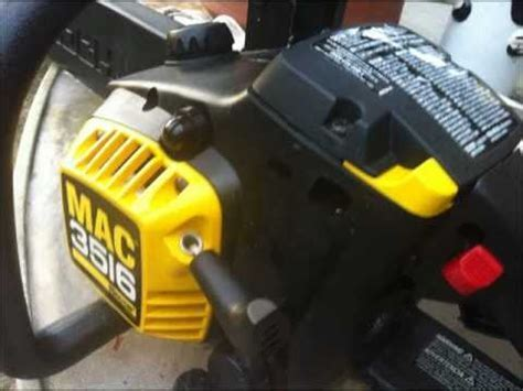 How to replace MCCULLOCH chainsaw MAC 3516 fuel line