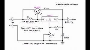 Current Boost Lm317 Adj  Power Supply