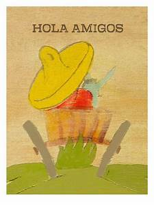 Hola Amigos Giclee Print by Lisa Weedn at AllPosters.com