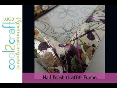 decorate  dollar store frame  nail polish