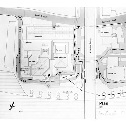 royal national theatre south bank london site plan riba