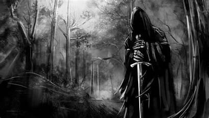 Dark Ambient Shadow Grim Reaper Background Metal