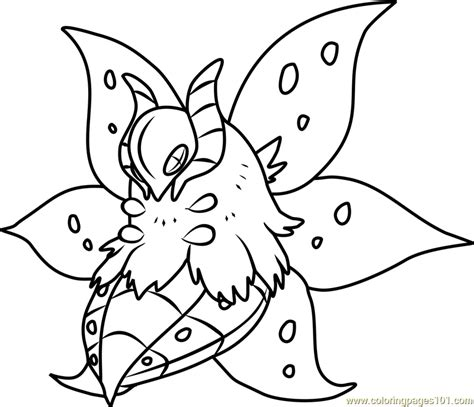 Volcarona Pokemon Coloring Page For Kids Free Pokemon