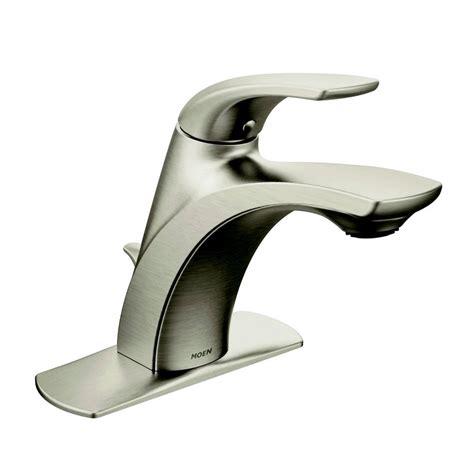 moen single handle bathroom sink faucet repair moen zarina spot resist brushed nickel 1 handle single