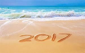 Wallpaper Beach, Happy New Year, 2017, 5K, Celebrations ...