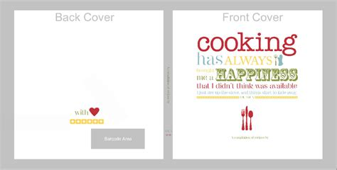 7 Best Images Of Recipe Book Cover Template  Free Recipe