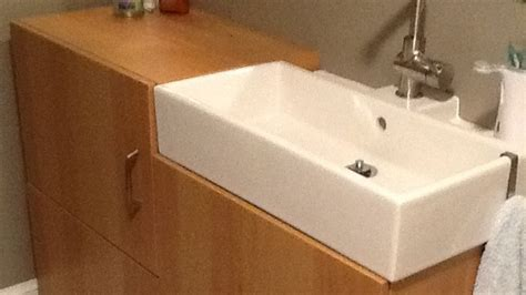 Ikea Bathroom Cabinets Australia by Combine Two Ikea Products To Create A Tiny Bathroom Vanity