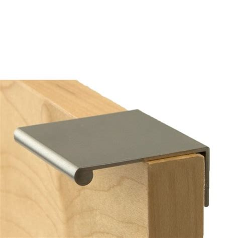 contemporary kitchen cabinet hardware berenson 1 3 4 inch length brushed nickel finger pull 1052 5694