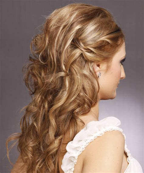 formal long curly   hairstyle light brunette hair
