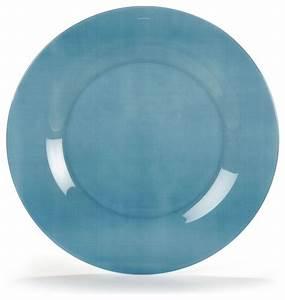 Assiette Bleu Canard : pop assiette plate en verre tremp bleue d25cm contemporain assiette par alin a mobilier ~ Teatrodelosmanantiales.com Idées de Décoration