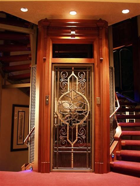 the elevators for homes home elevator with etched door home elevator