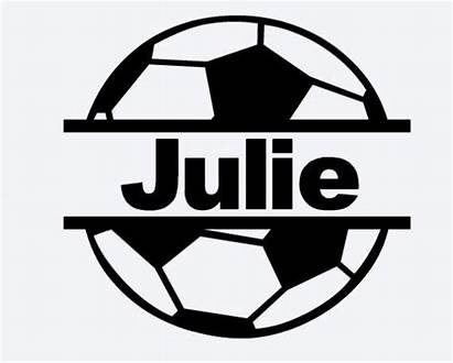 Soccer Ball Split Decal Vinyl Personalized Decals