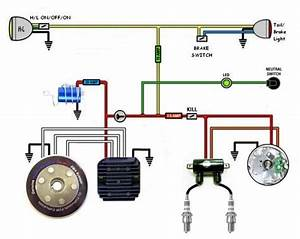 Honda Motorcycle Electrical System Pictorial Diagram