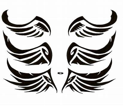 Wings Angel Wing Tribal Tattoo Simple Clip