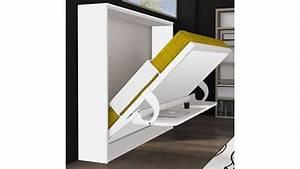 Lit Tv Intégré : lit escamotable et bureau int gr leandro en panneaux de particules moderne ~ Teatrodelosmanantiales.com Idées de Décoration