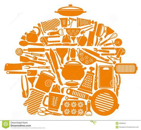 articles de cuisine symbole des articles de cuisine illustration de vecteur