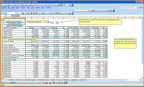 excel business budget template authorization letter