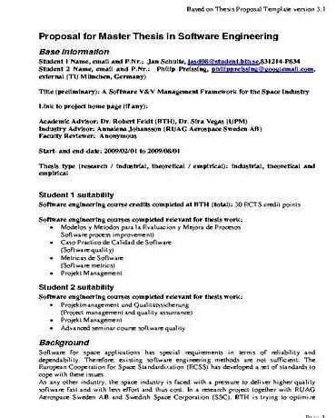 masters dissertation proposal sample  document