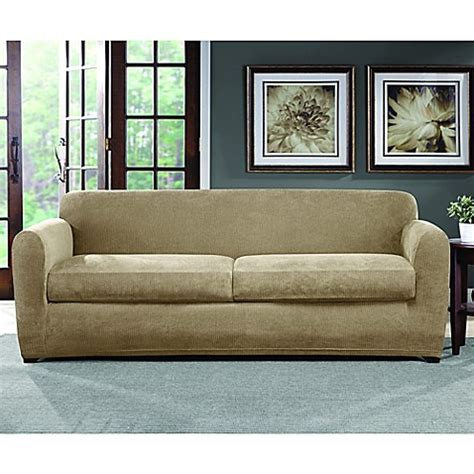 Sofa And Loveseat Slipcovers Sets by Sure Fit 174 Ultimate Stretch Chenille Sofa Slipcover Bed